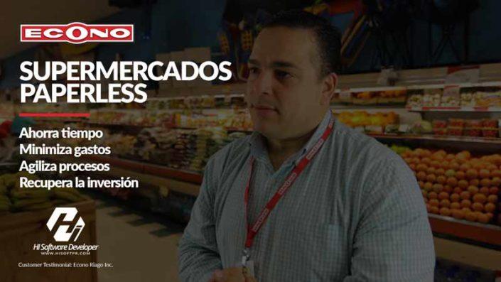 Econo Riago Inc. Supermarkets go Paperless